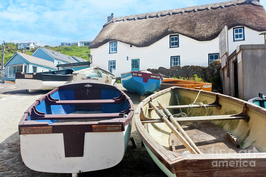 Cornwall Photograph - Tinker Taylor Cottage Sennen Cove Cornwall by Terri Waters