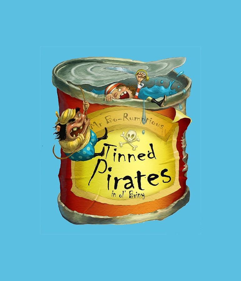 Pirates Painting - Tinned Pirates by Andy Catling