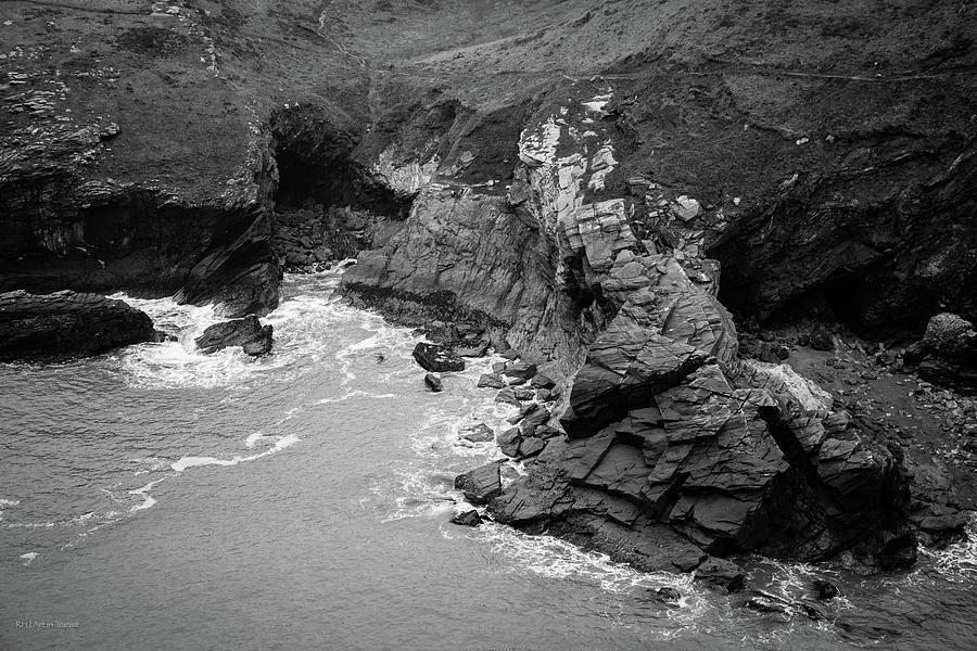 Tintagel Photograph - Tintagel Rocks by Ross Henton