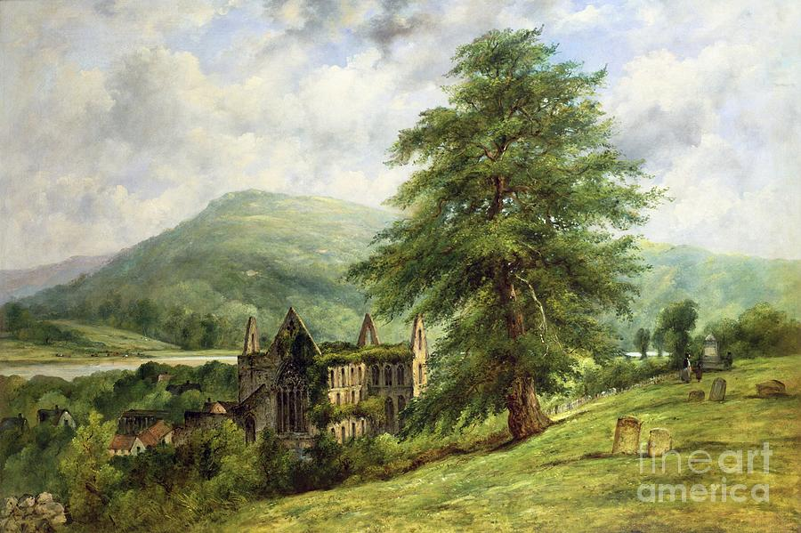 Abbey Painting - Tintern Abbey  by Frederick Waters Watts