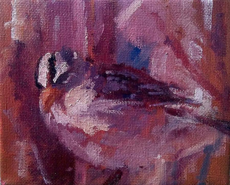 Bird Painting - Tiny Bird Study #1 by Brian Kardell