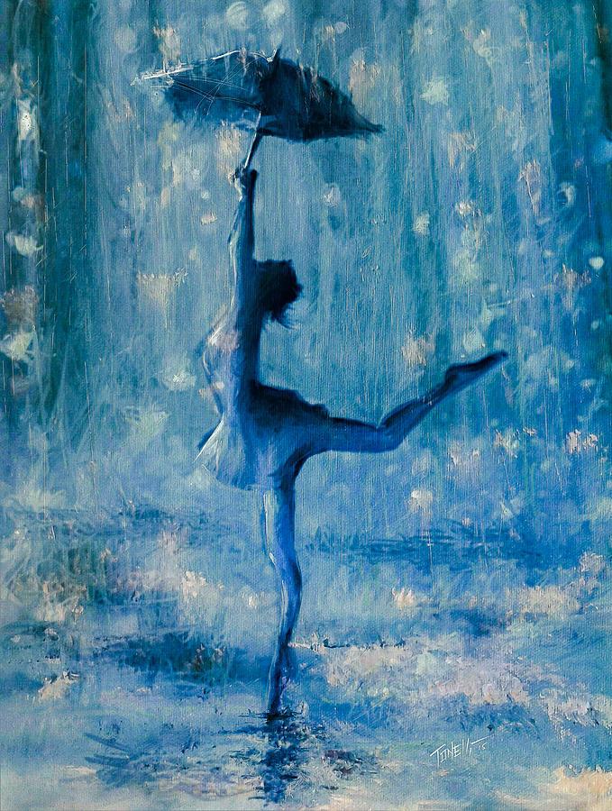 Umbrella Mixed Media - Truer Than Blue by Mark Tonelli