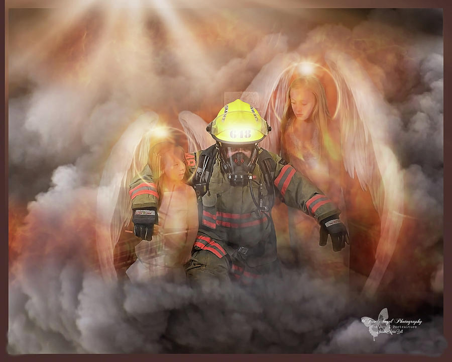 Firefighters Photograph - Tiny Guardians by Sussan Bell