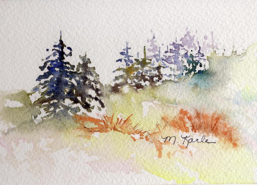 Tiny Winter Treescape by Marsha Karle