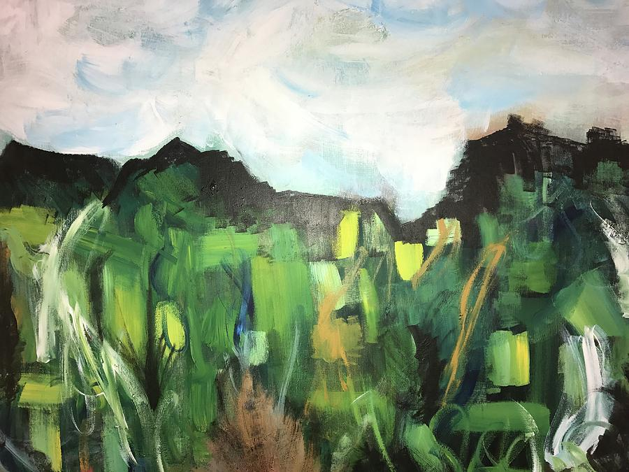 Landscape Painting - Tip Toe by Katy Flach