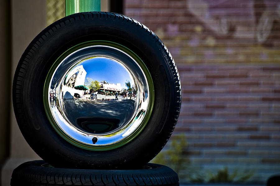 Tyre Photograph - Tired Reflections by Sarita Rampersad
