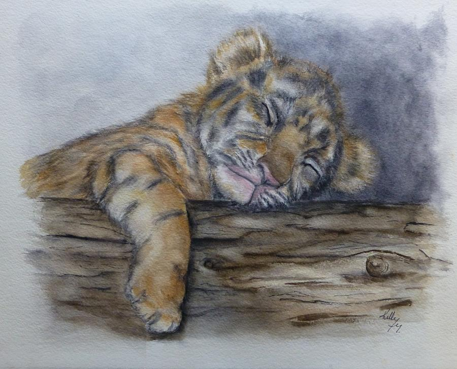 Shhh Tiger Cub is Sleeping by Kelly Mills