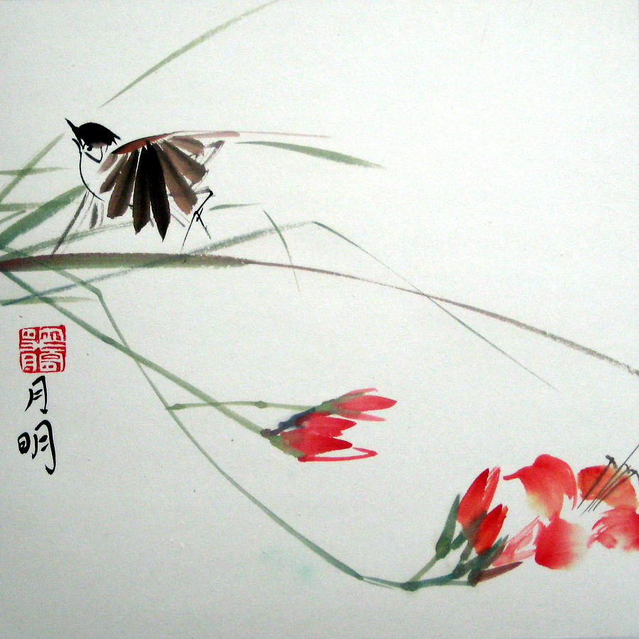 Bird Painting - Tireless Flight by Ming Yeung