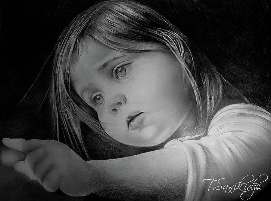 Pensil Drawing - Tita by Tinatin Sanikidze