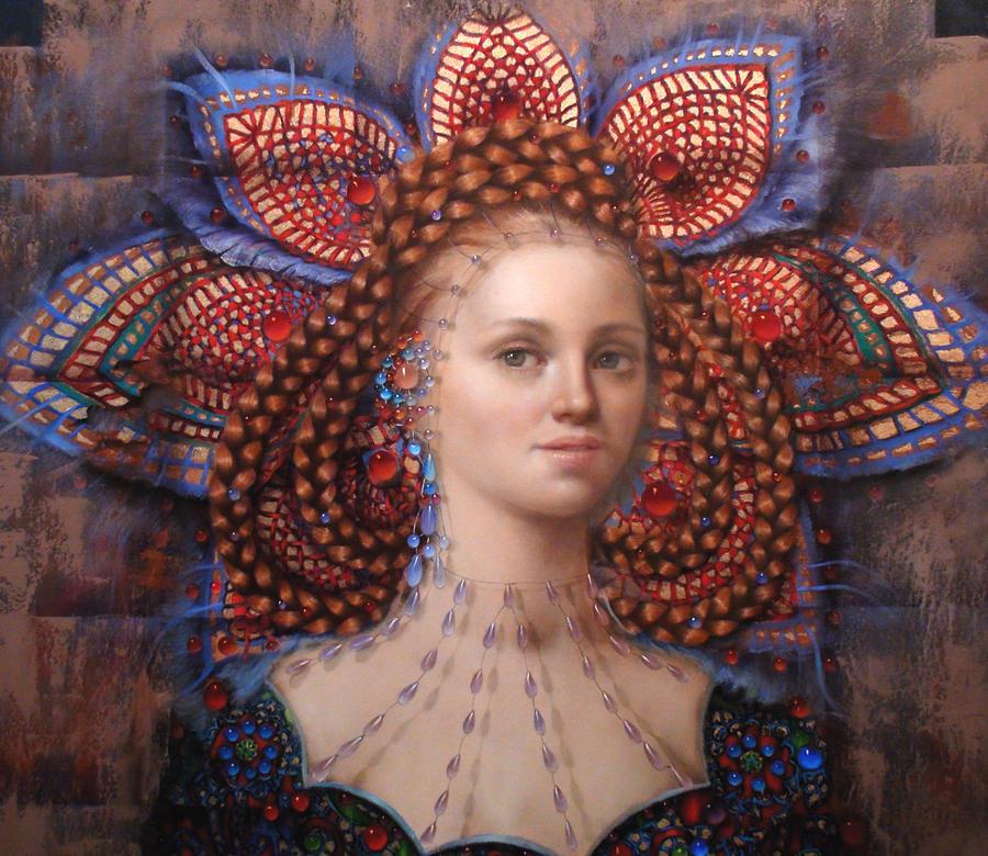 Woman Painting - Titania 2 by Loretta Fasan