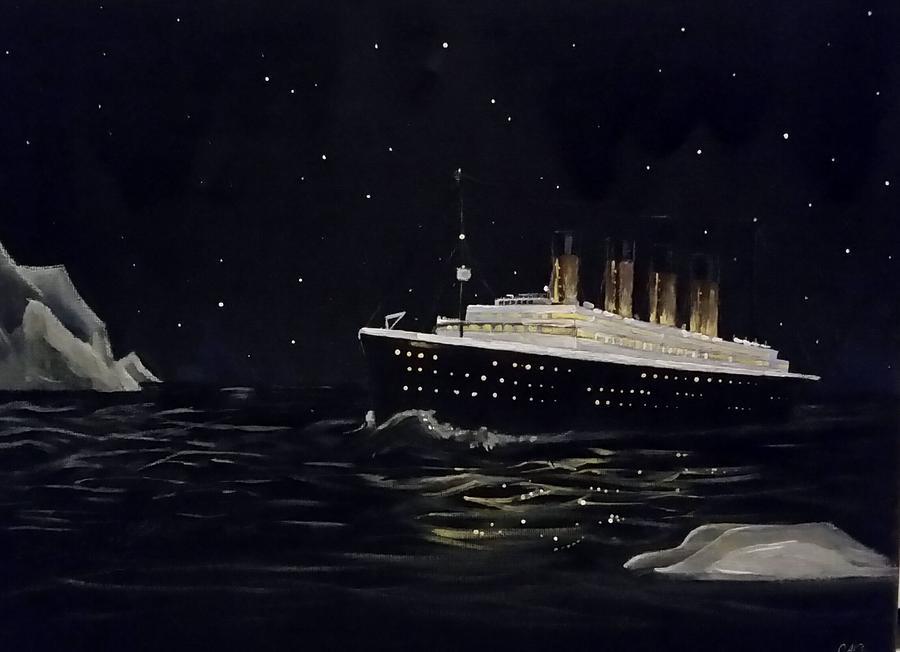 Titanic Painting - Titanic by Carole Hutchison