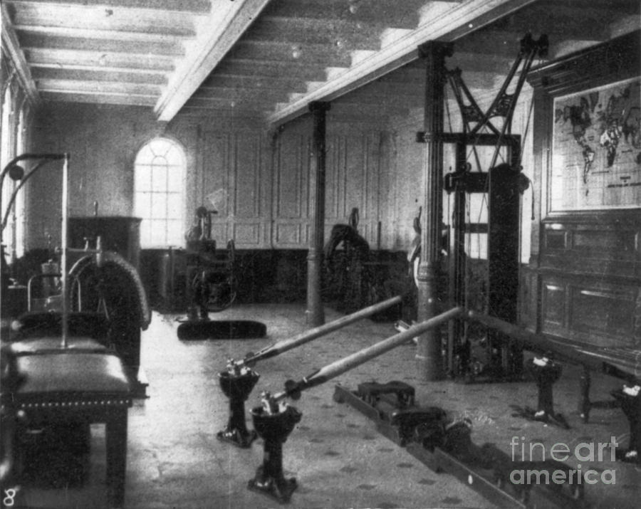 1912 Photograph - Titanic: Exercise Room, 1912 by Granger