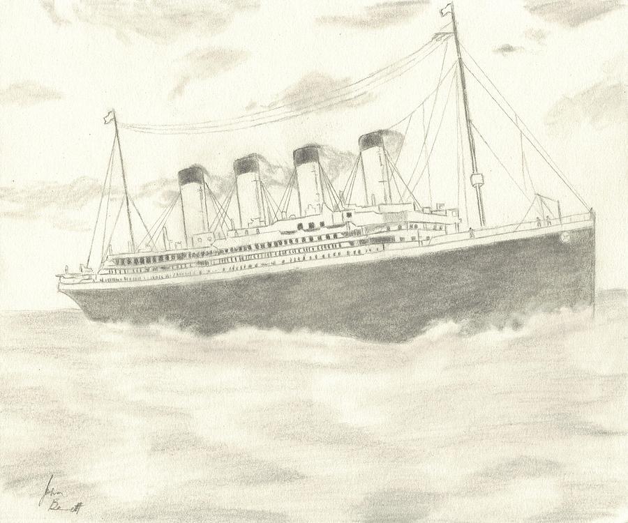 Titanic Drawing - Titanic by Josh Bennett