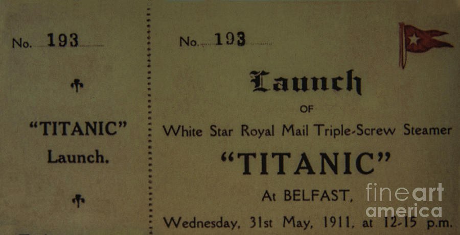 Titanic Launch Ticket by Elvis Vaughn