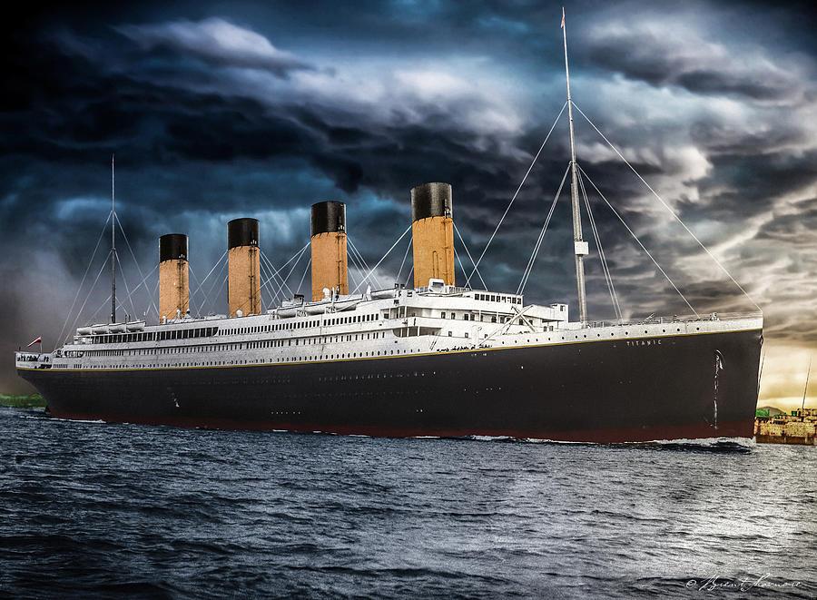 Titanic Photo Restoration Digital Art by Brent Shavnore