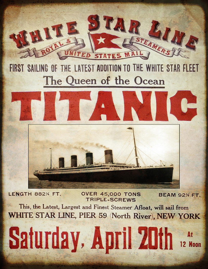 TITANIC - PRIDE of WHITE STAR LINE 1912 Photograph by ...