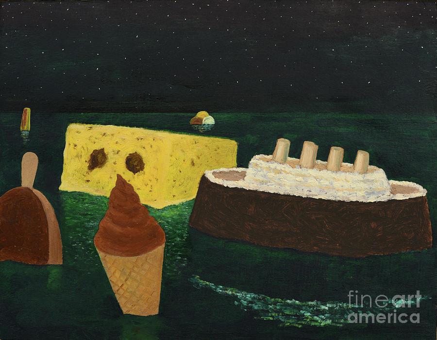 Titanic Painting - Titanics Birthday by Oleg Konin