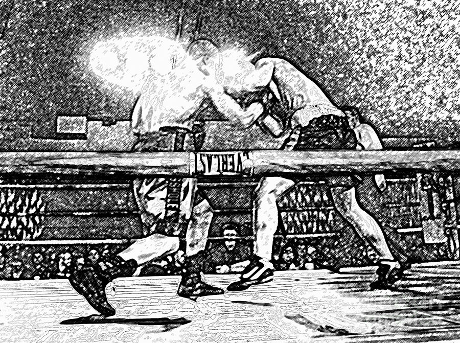 Boxing Photograph - Titans Of The Ring by David Lee Thompson