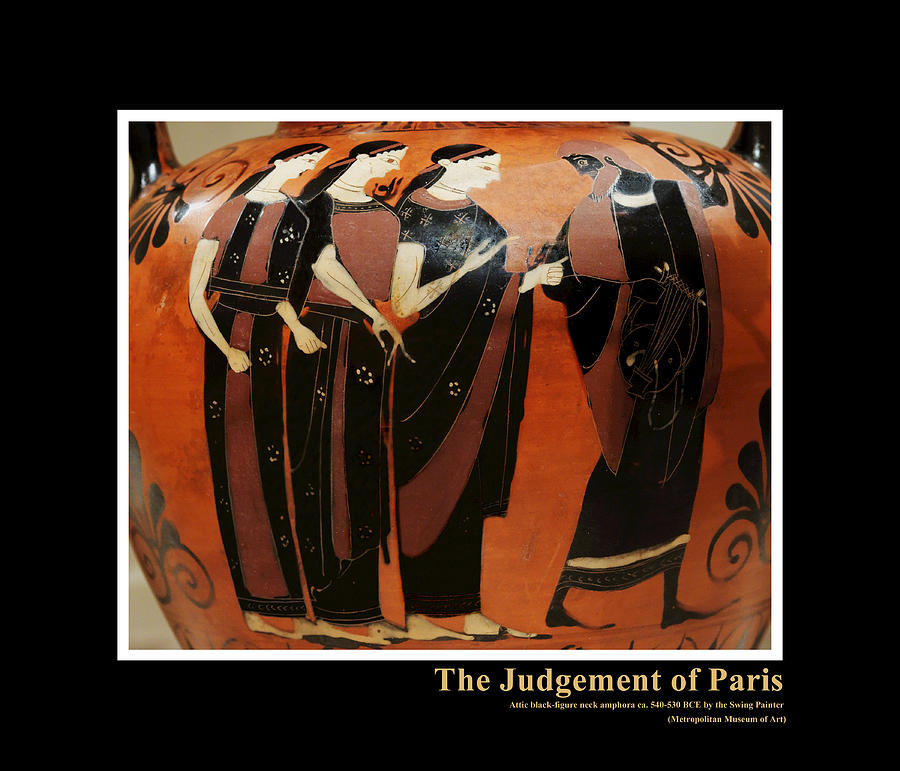 Greece Digital Art - Titled Judgement Of Paris by Kathleen Vail