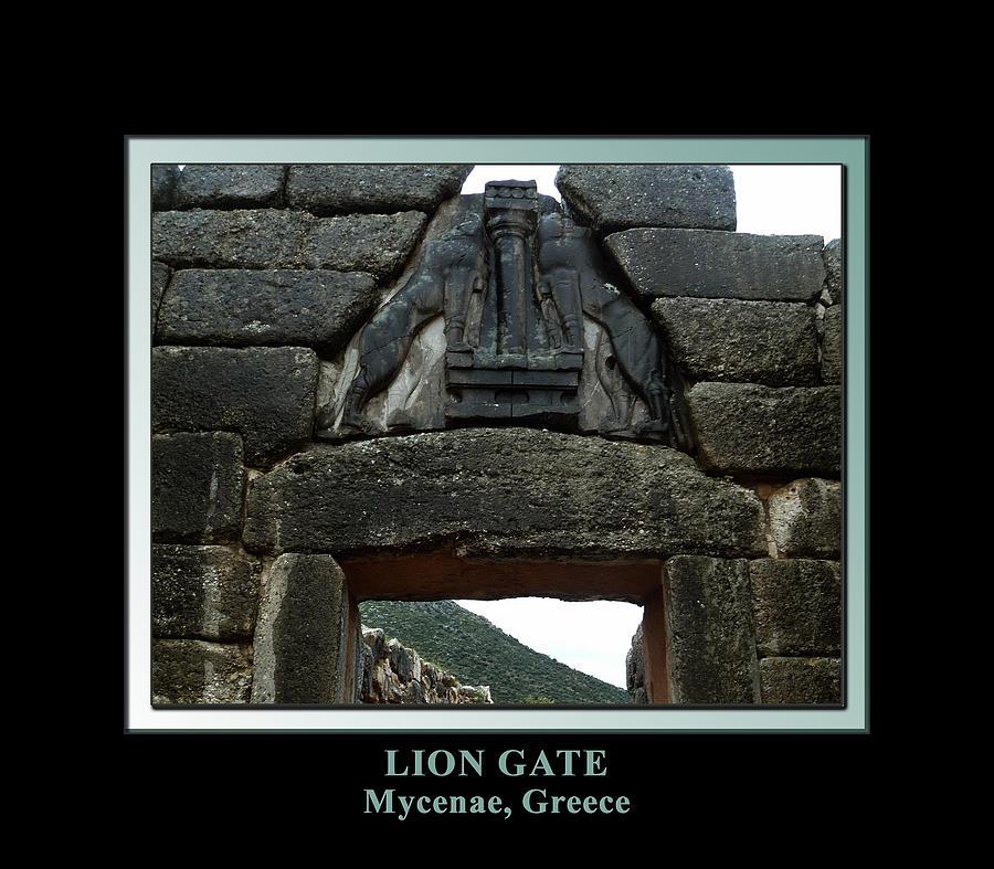 Ancient Greece Digital Art - Titled Lion Gate Of Mycenae by Kathleen Vail