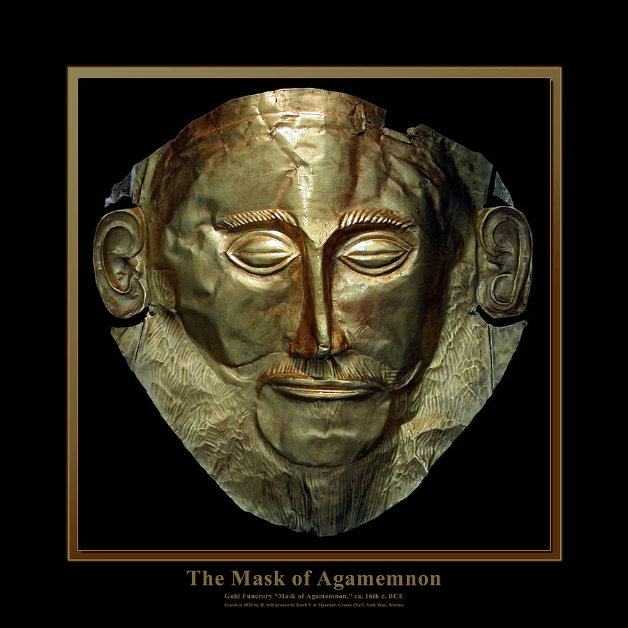 Greece Digital Art - Titled Mask Of Agamemnon by Kathleen Vail