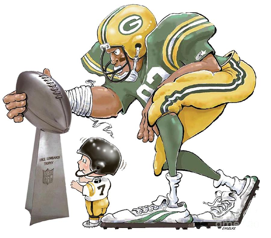 Green Bay Packers Drawing - Titletown Bound by Gale Engelke
