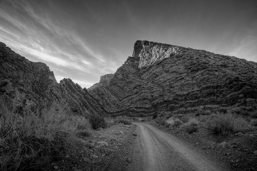Black & White Photograph - Titus Canyon Road by Peter Tellone