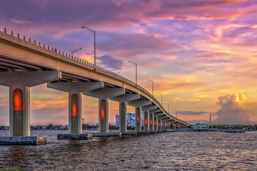 Bridge Photograph - Titusville Sunset Bridge by Louise Hill