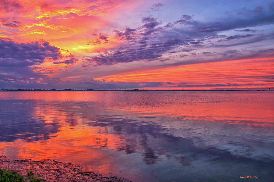 Sunset Photograph - Titusville Sunset by Louise Hill