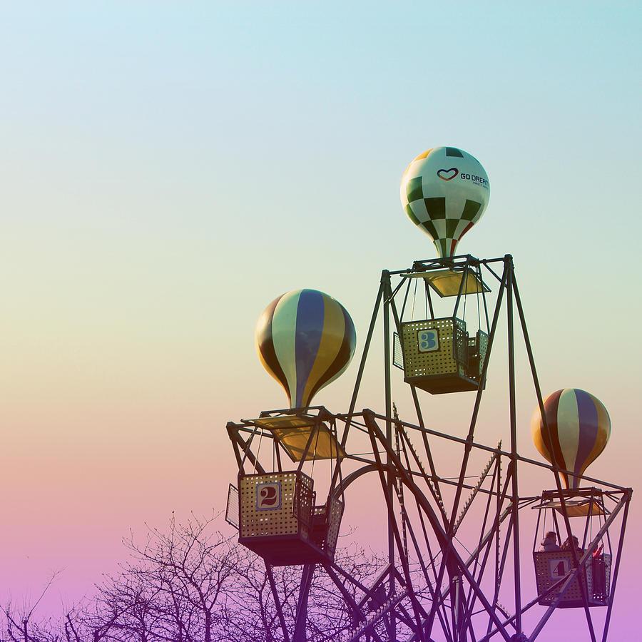 Copenhagen Photograph - Tivoli Balloon Ride by Linda Woods