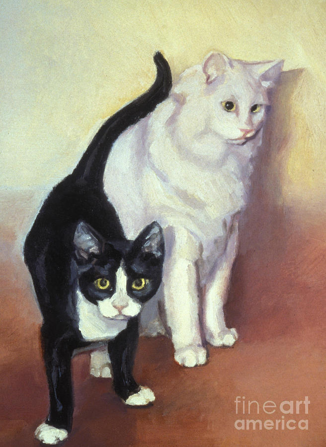 Cats Painting - Tj And Ozzie by Natasha Harsh