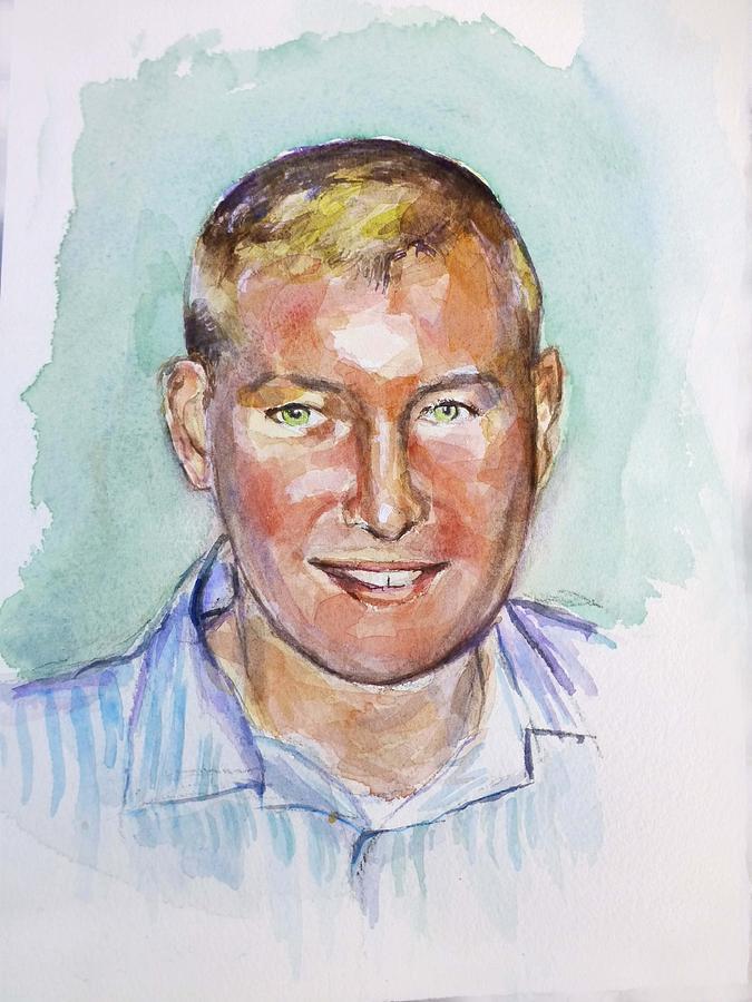 Portrait Of Man Painting - TJ by Renuka Pillai