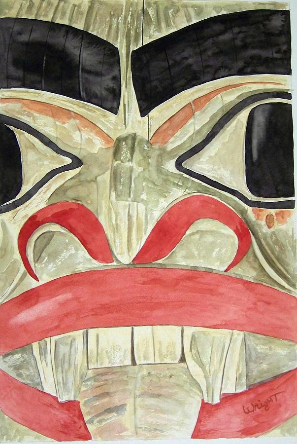Indian Totem Painting - Tlingit Clan Beaver by Larry Wright