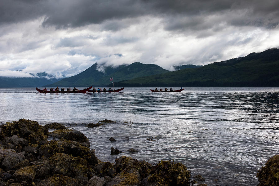 Tlingit Paddlers by Ian Johnson
