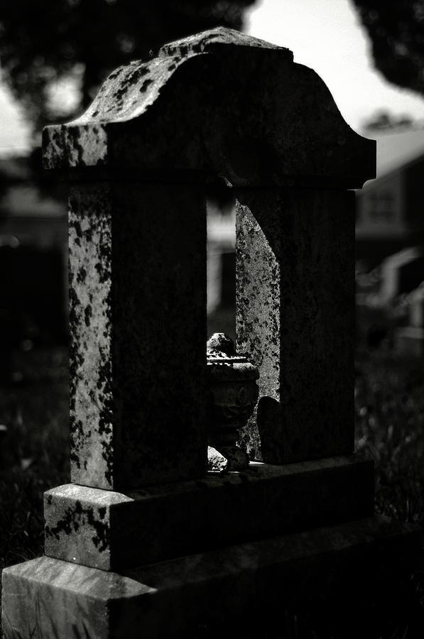 Cemetery Photograph - To A Shadow by Rebecca Sherman
