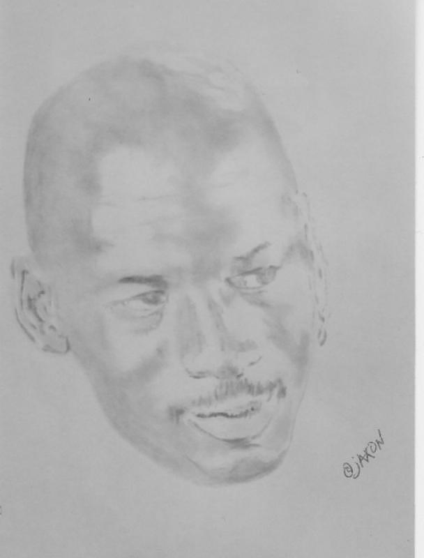 Nba Drawing - To Air Is Jordan by B Jaxon