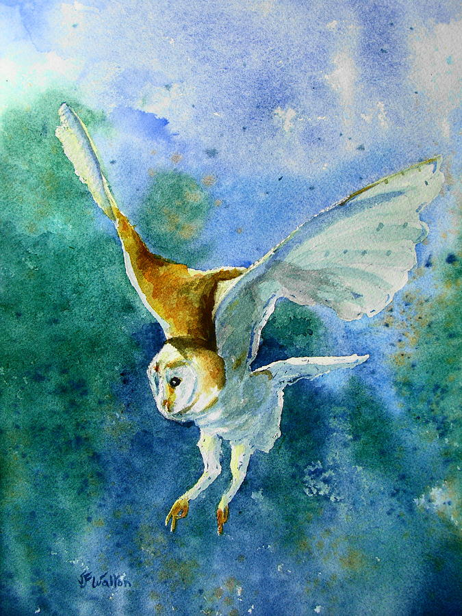 Owl Painting - To Catch A Mouse by Judy Fischer Walton