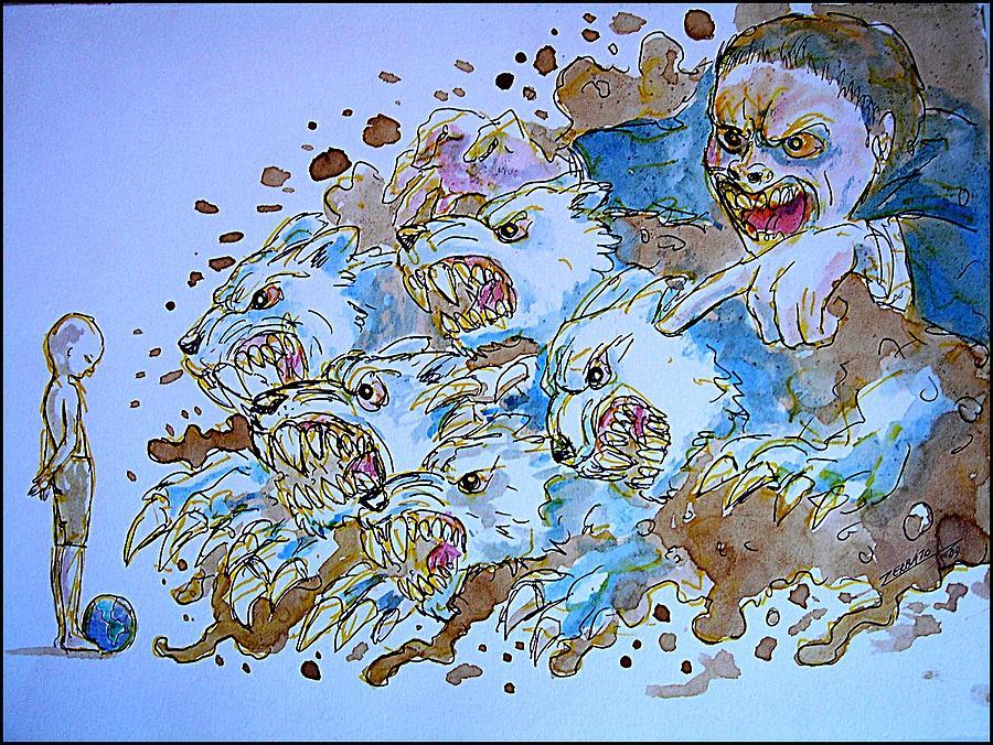 Political Cartoon Digital Art - To Corrupt The Innocence by Paulo Zerbato