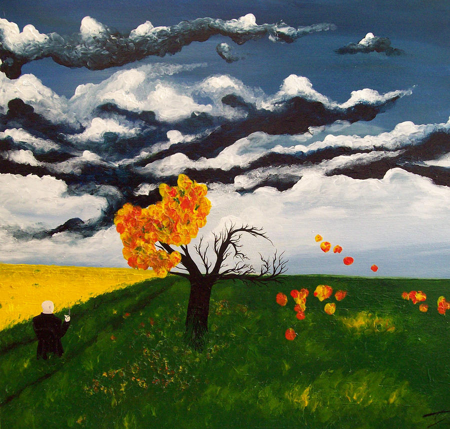 Landscape Painting - To Dreams And Memories by Justin D B