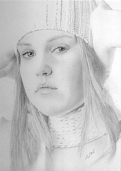 Girl Drawing - To Hear by Greg Neil