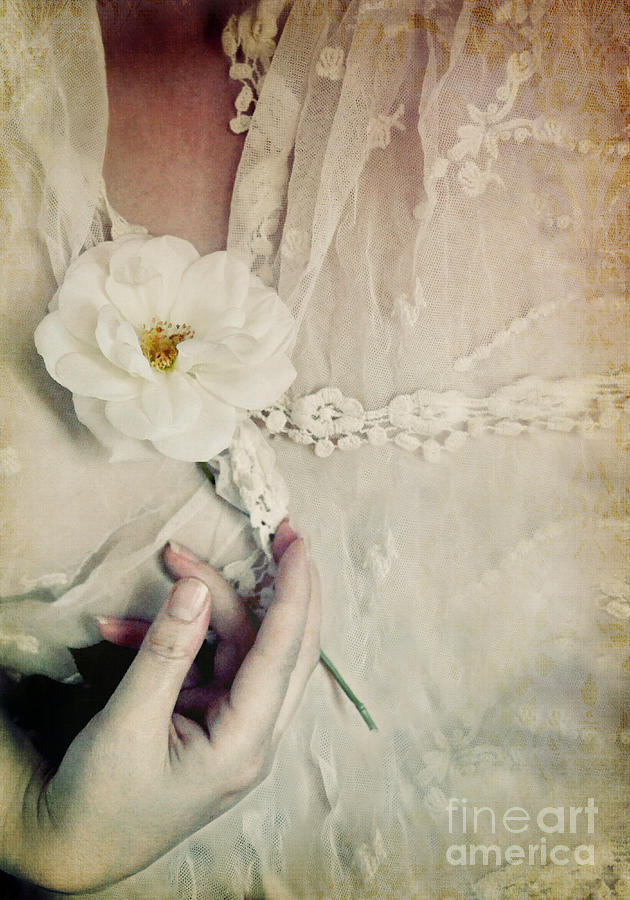 Interior Photograph - To Hold A Rose So Sweet by Lyn Randle