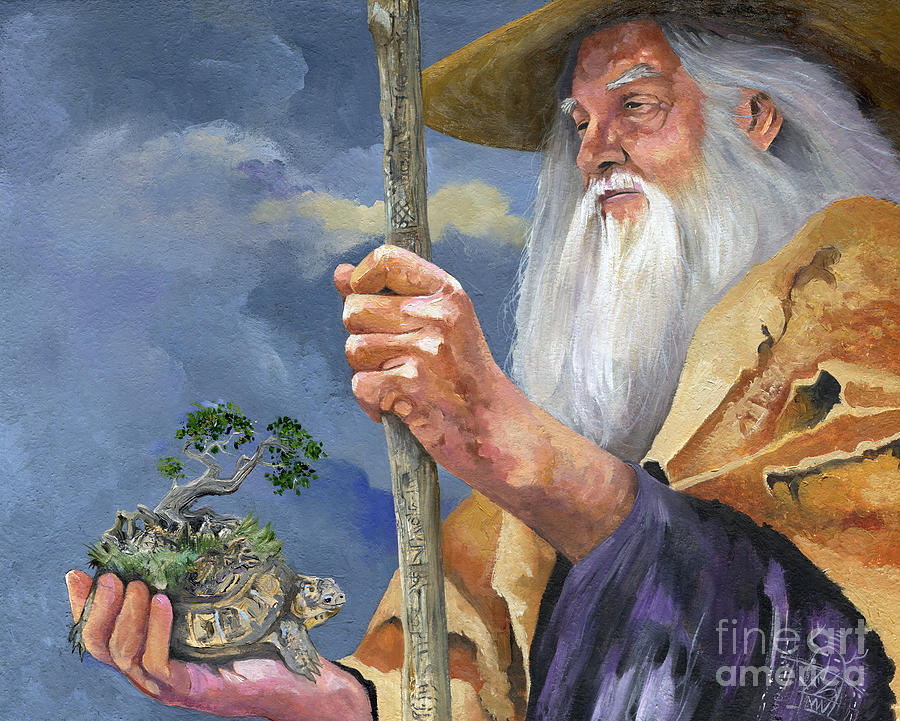 Seeker Painting - To Hold The World In The Palm Of Your Hand by J W Baker