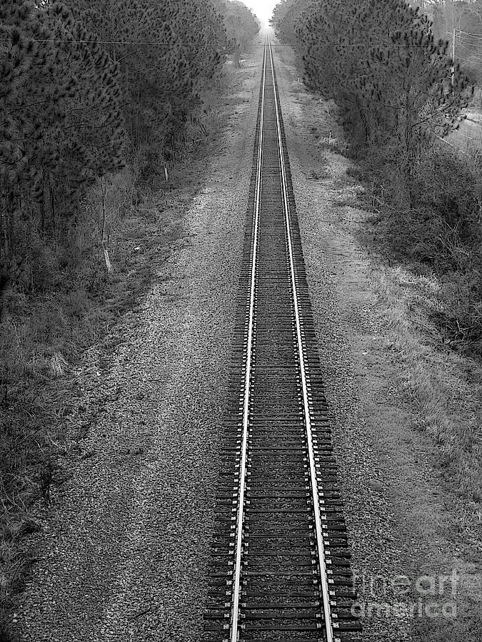 Railroad Track Photograph - To Infinity...and Beyond by David Bearden