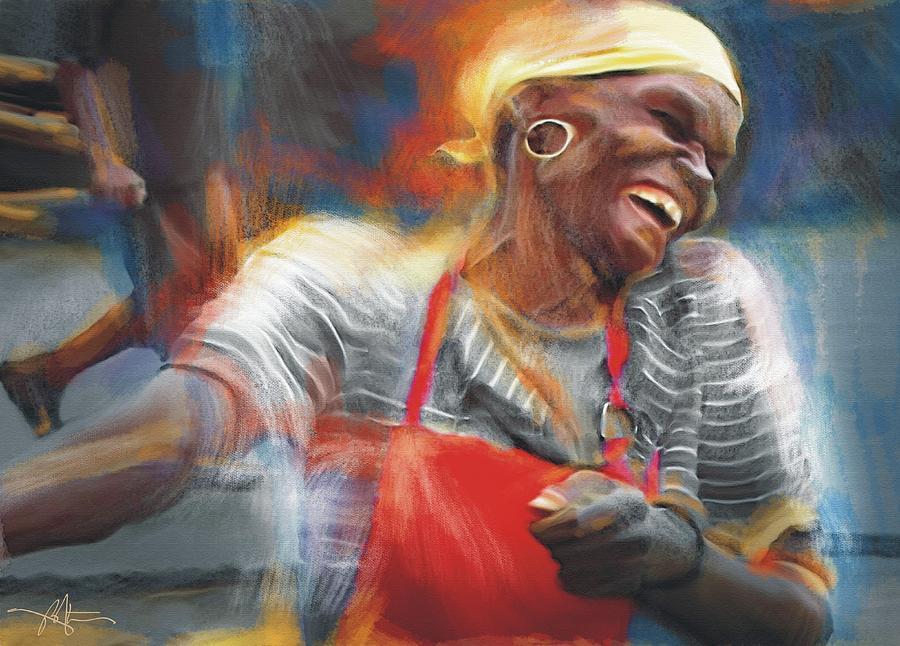 Haiti Painting - To Laugh Again by Bob Salo