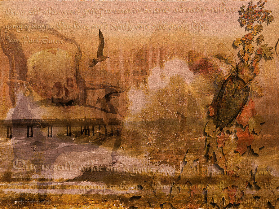 Sartre Digital Art - To Live Is To Die by Mimulux patricia No