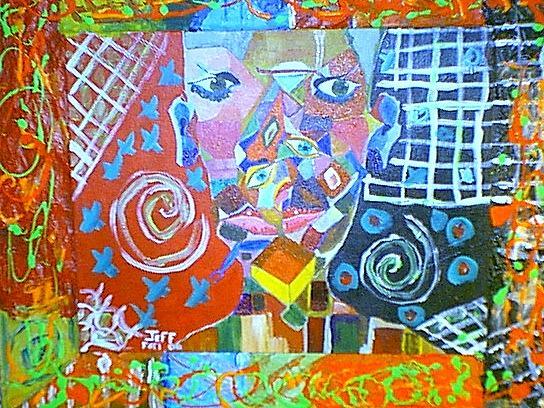 Bar Painting - To Menny by Jeffrey Foti