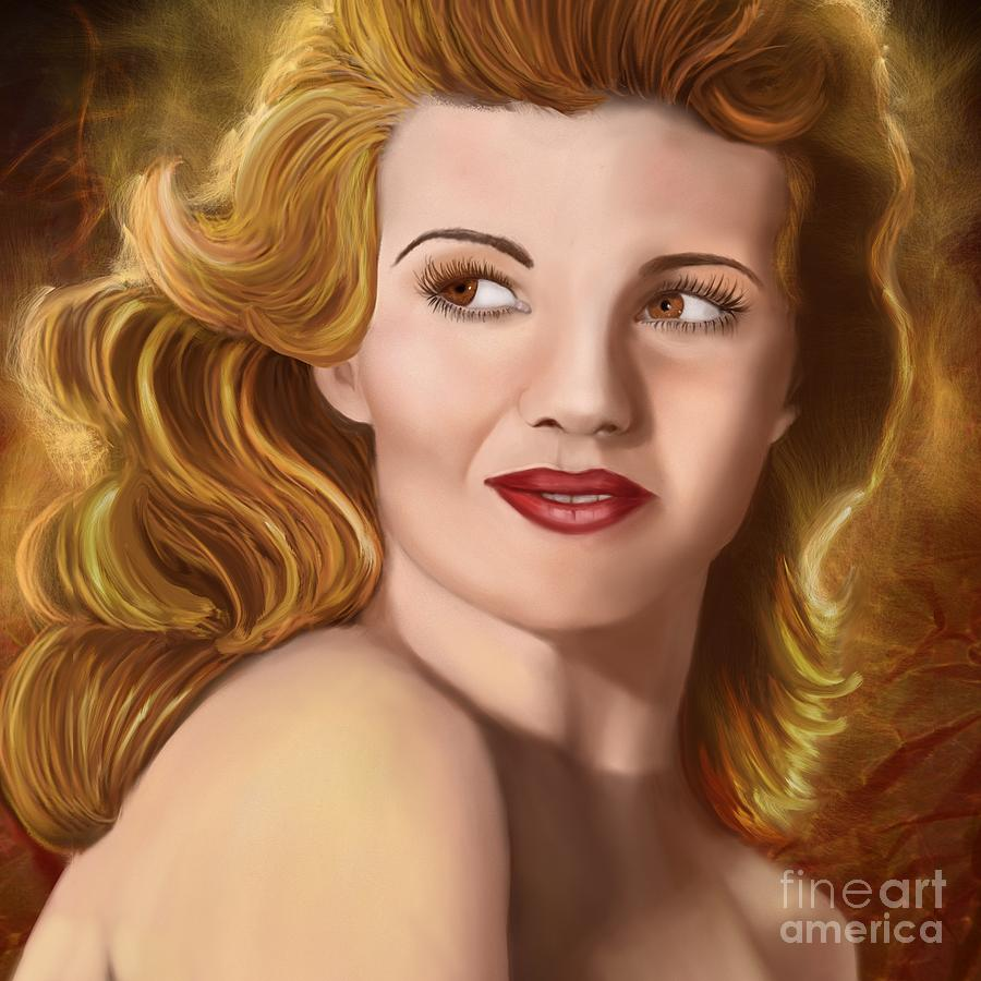 Celebrity Digital Art - To Rita Hayworth by Sydne Archambault