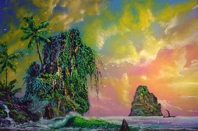Sunset Painting - To Sail Into The Sunrise by Victor Kirton