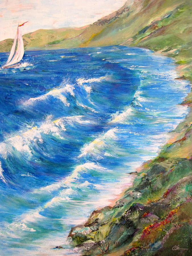 Seashore Painting - To Shore - Maui by Cheryl Ehlers