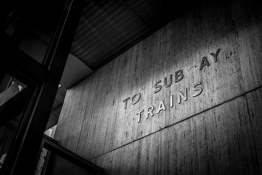 Philadelphia Photograph - To Sub ay Trains by Robert Davis